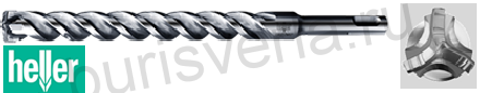 Бур по железобетону Heller Trijet, SDS-plus, 8х50х110мм